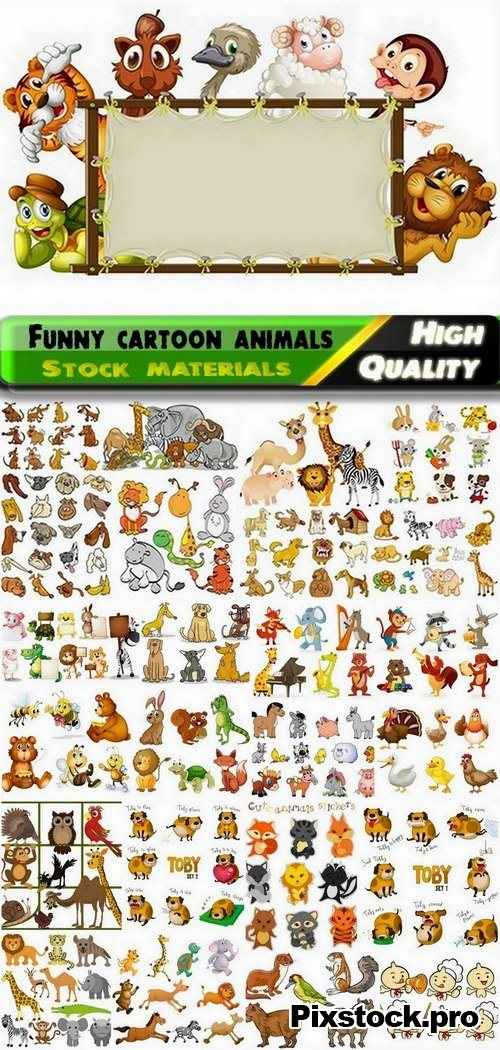 Funny cartoon animals in vector from stock #4 – 25 Eps