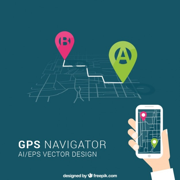 gps navigator  Vector | Free Download