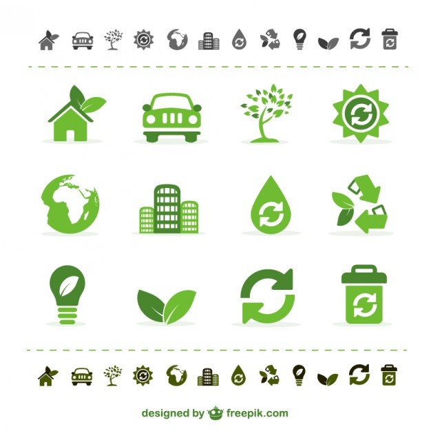 Green ecology vector icons   Vector | Free Download