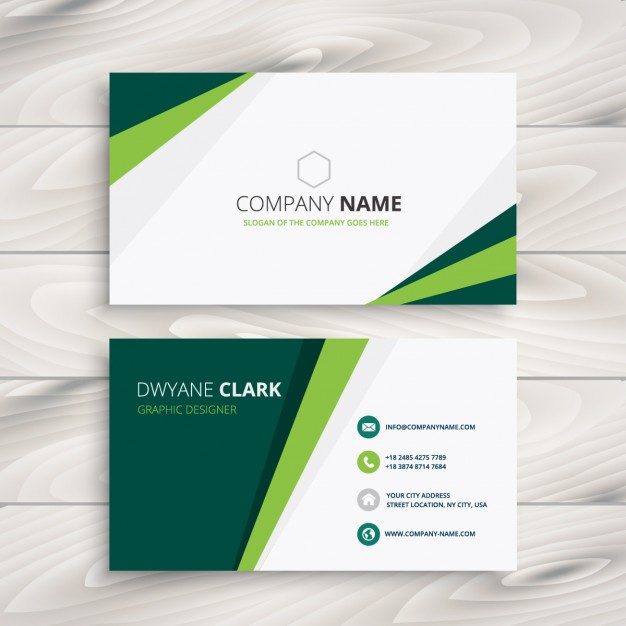 Green visit card  Vector | Free Download