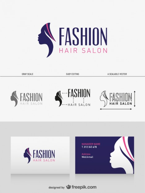 Hair salon business card  Vector | Free Download