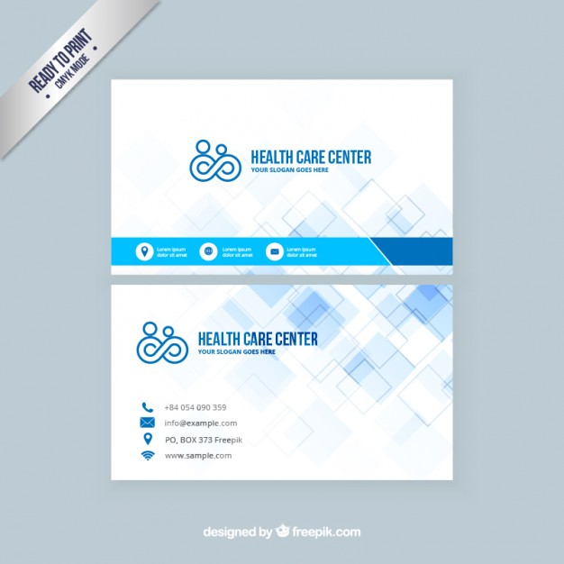 Health care visit card  Vector | Free Download