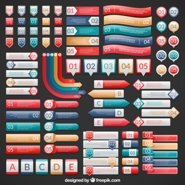 Infographic banners collection  Vector | Free Download