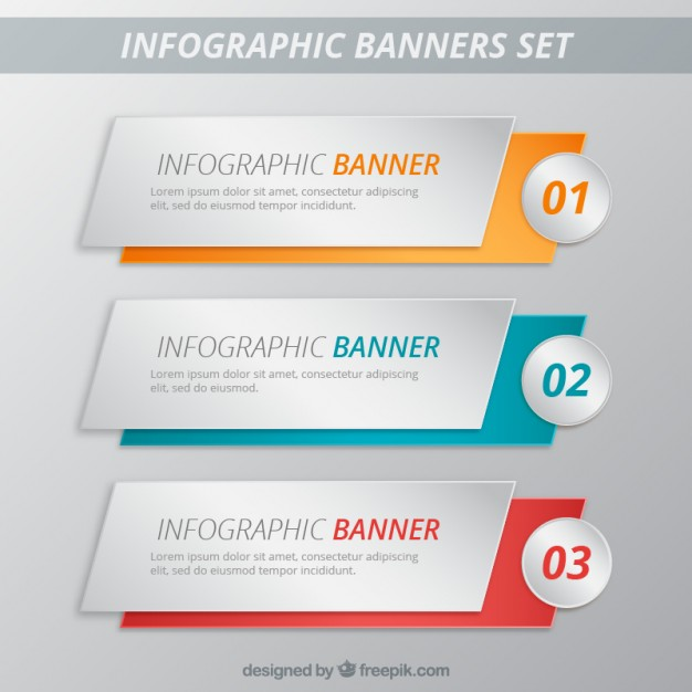infographic banners template pack  Vector | Free Download