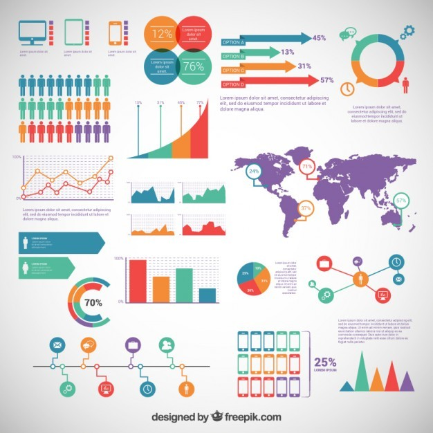 Infographic elements pack  Vector | Free Download