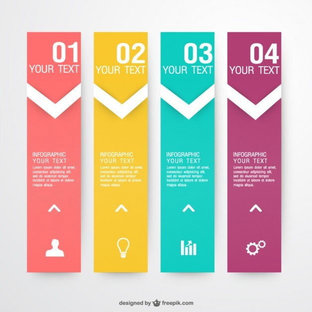 Infographic vector labels collection   Vector | Free Download