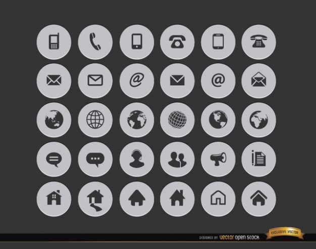 Internet contact icons  Vector | Free Download