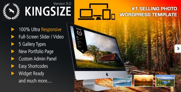 KingSize Fullscreen Photography Theme – WordPress | ThemeForest