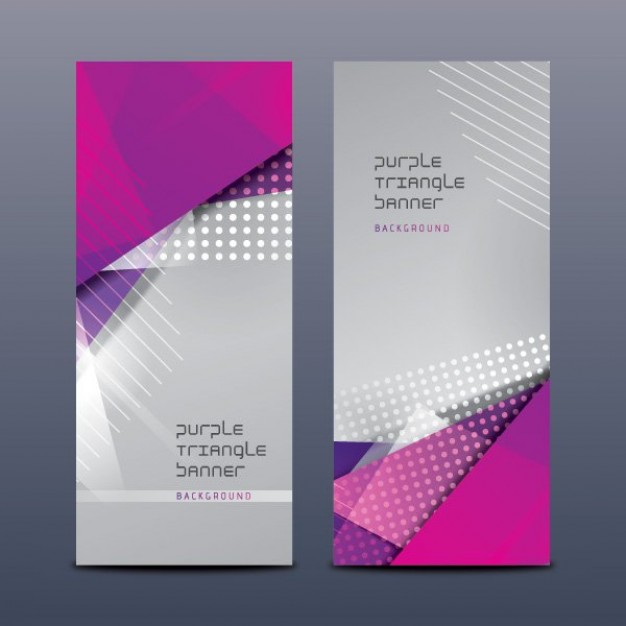 Magenta Triangle banners  Vector | Free Download