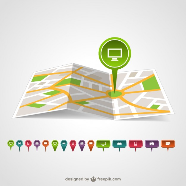 Map pin template vector   Vector | Free Download