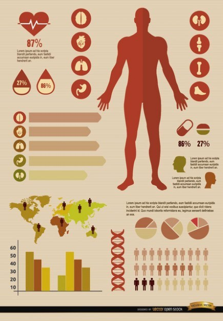 Medical Infographic set  Vector | Free Download