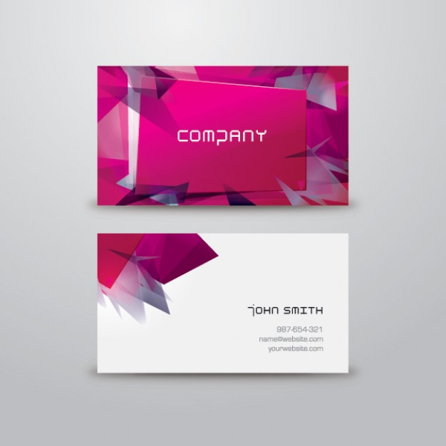 Modern and colorful business card  Vector | Free Download