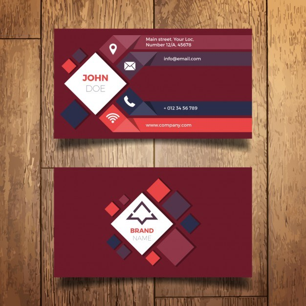 Modern business card design  Vector | Free Download