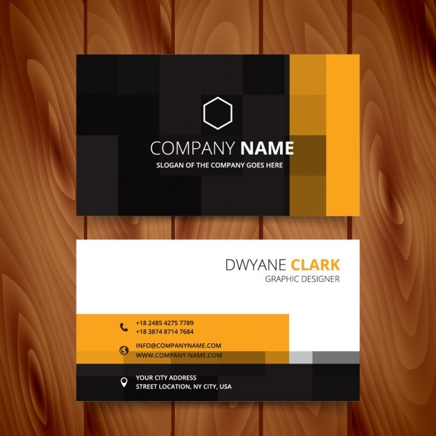 Modern business card with pixelated style  Vector | Free Download