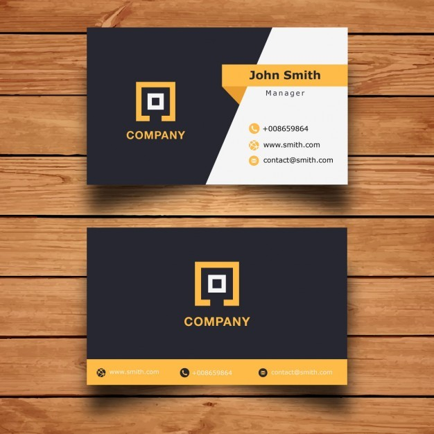 Modern Corporate  Business Card Design  Vector | Free Download