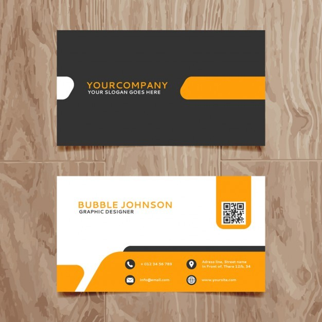 Modern simple business card template  Vector | Free Download