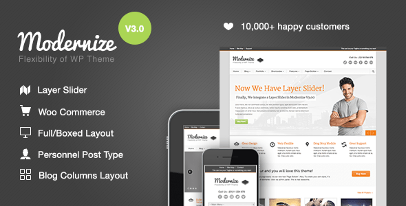 Modernize – Flexibility of WordPress – WordPress | ThemeForest
