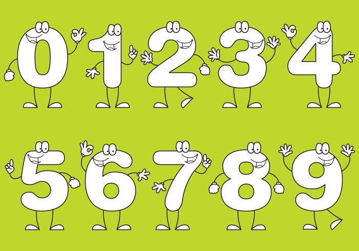 Number Cartoons – Download Free Vector Art, Stock Graphics & Images