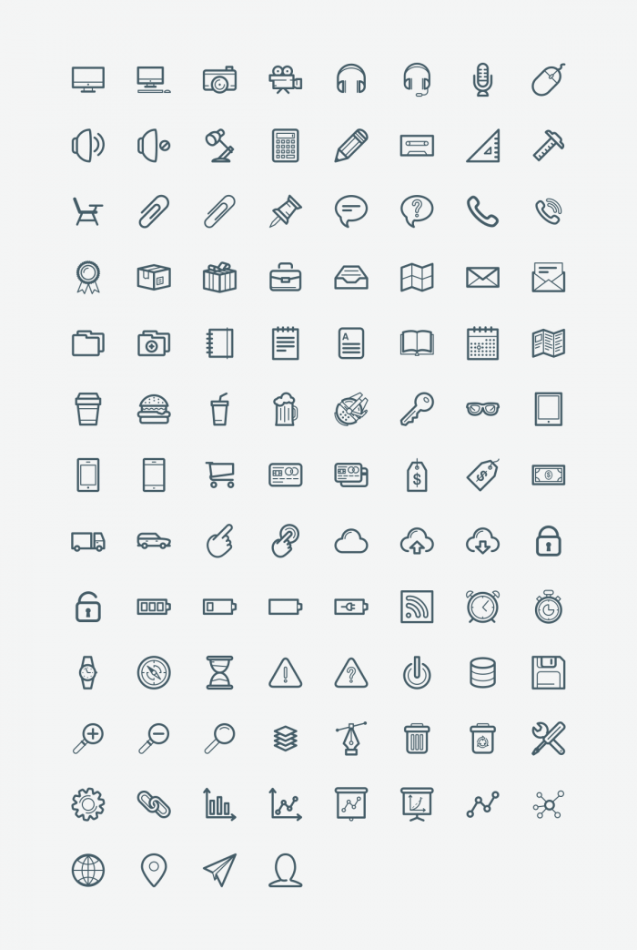 100 Office Icons | IconStore