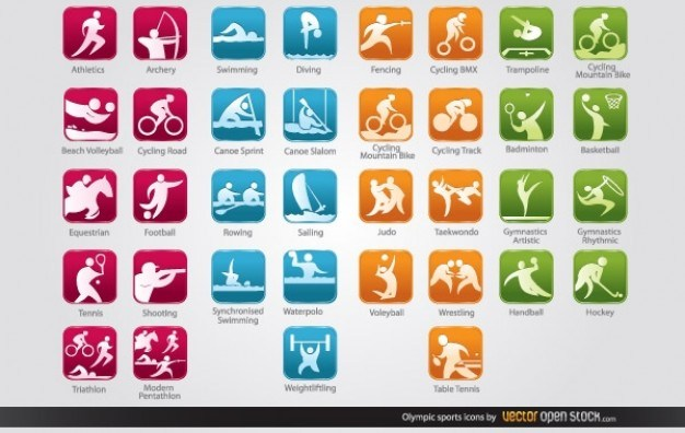 olympic sports icons  Vector | Free Download