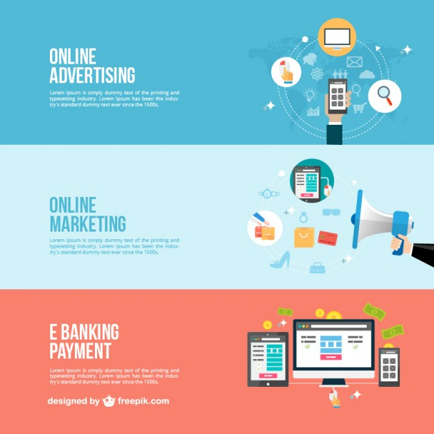 Online business banners  Vector | Free Download