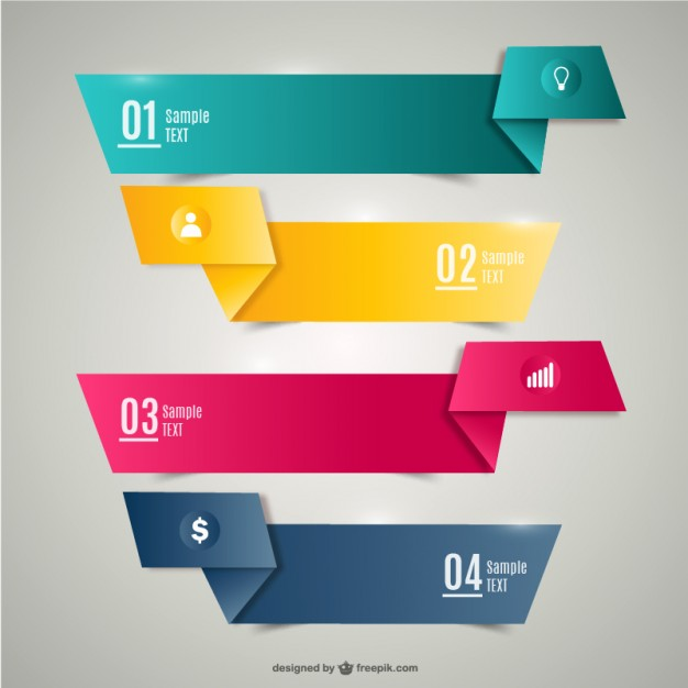 Origami banners  Vector   Free Download
