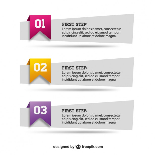 Paper banners set   Vector | Free Download