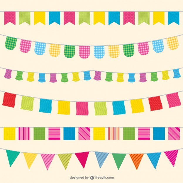 Party flags illustration