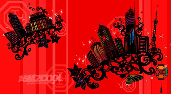 Pattern Architectural Series -012 city building