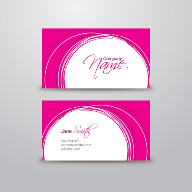 Pink Business Card Template  PSD file | Free Download