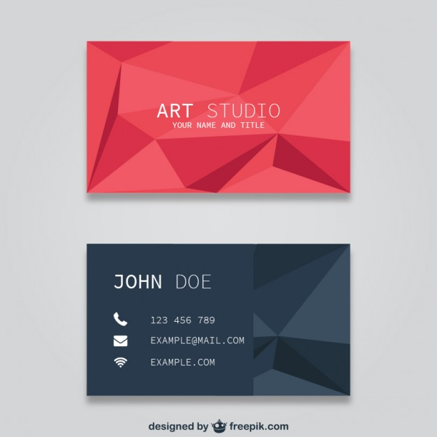 Polygonal business card templates  Vector | Free Download