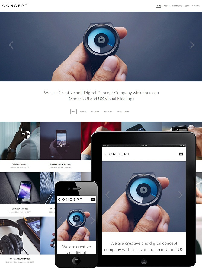 Concept Responsive Theme WordPress