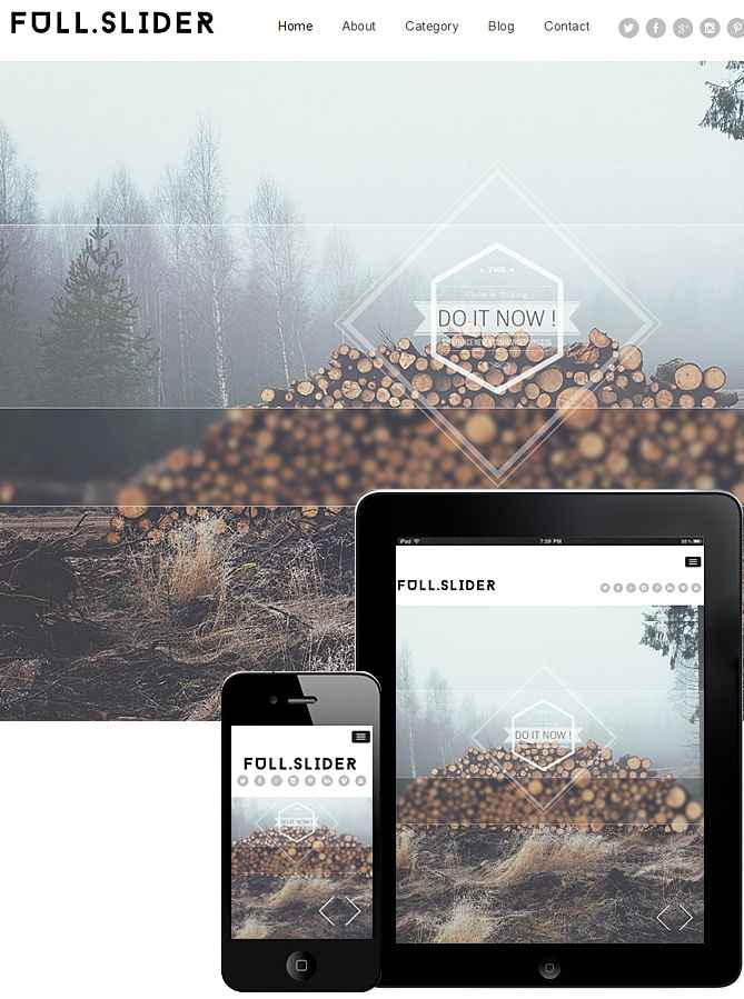 Full Slider Responsive Theme