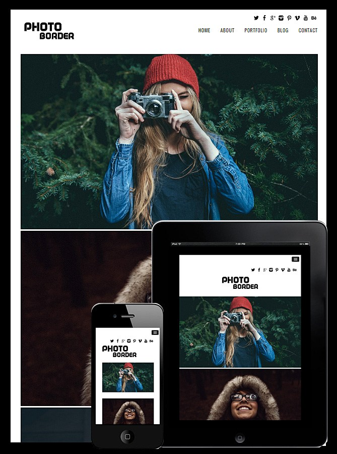 Photo Border Responsive Theme