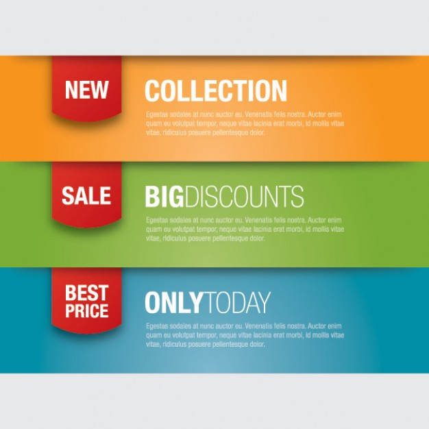 Promotion banners for offers and sales.  Vector | Free Download
