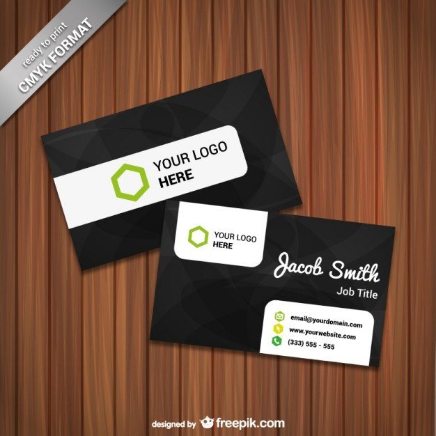 Ready to print card template vector  Vector | Free Download