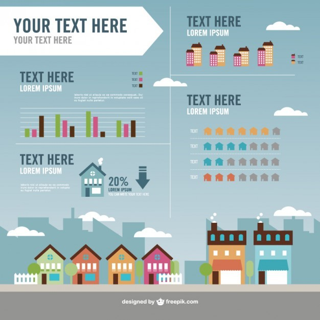 Real estate vector infography   Vector | Free Download