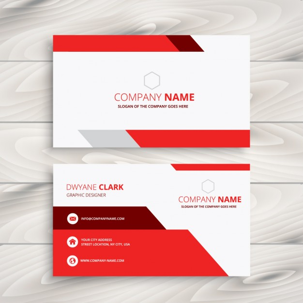 red and white modern business card  Vector | Free Download