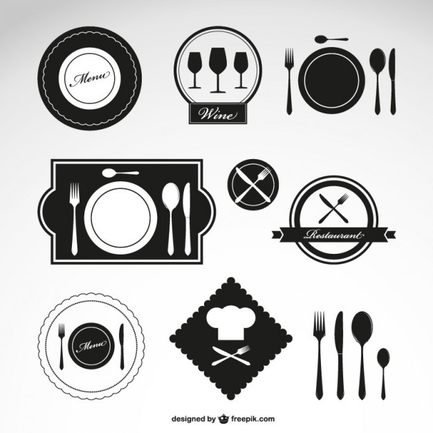 Restaurant vector symbols set   Vector | Free Download