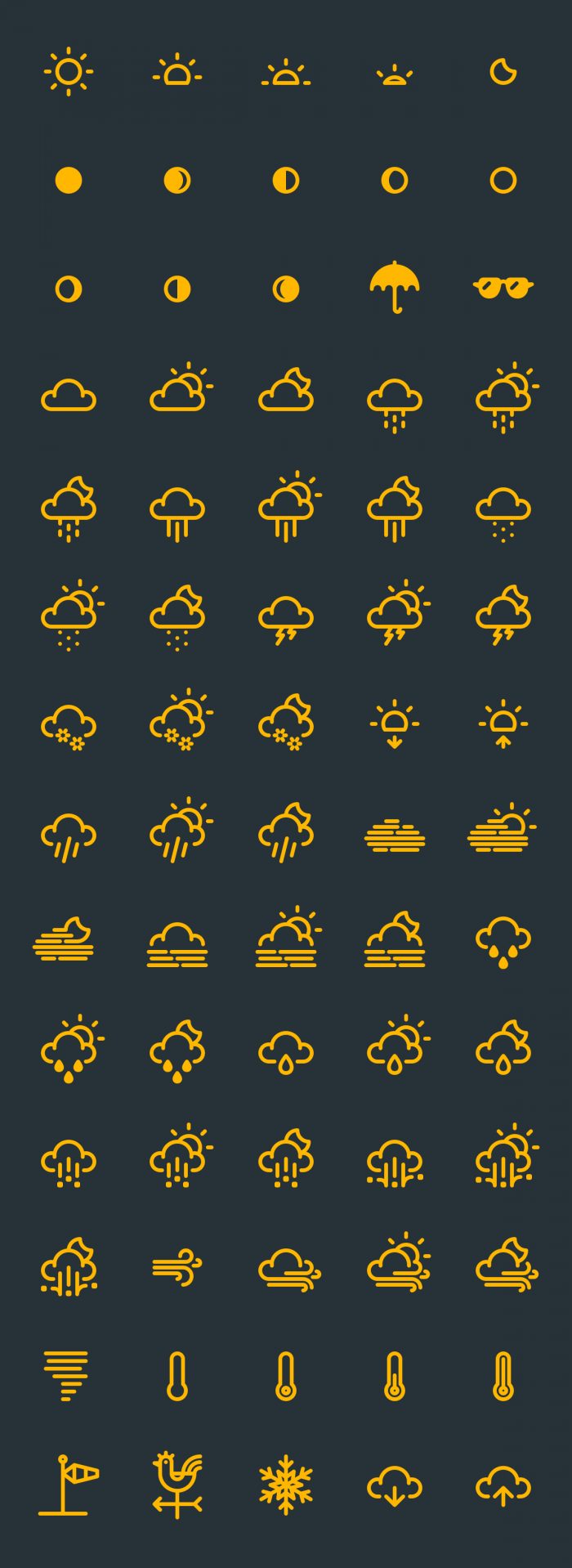 RNS Weather Icons | IconStore