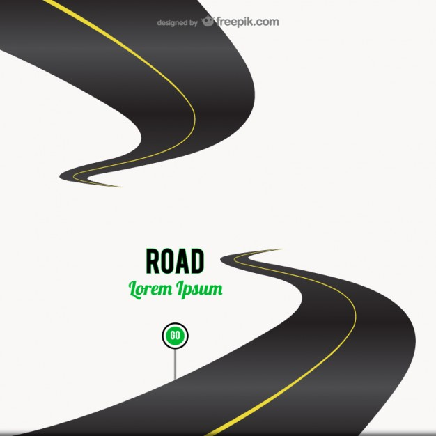 Road go sign background   Vector | Free Download