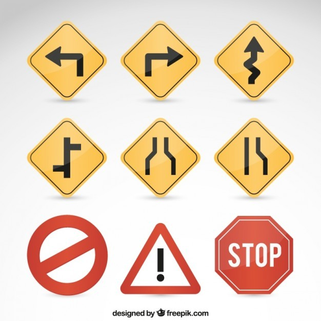 Road signs  Vector | Free Download