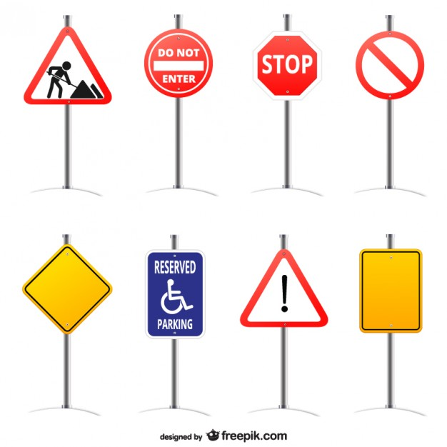 Road signs vector graphics   Vector | Free Download