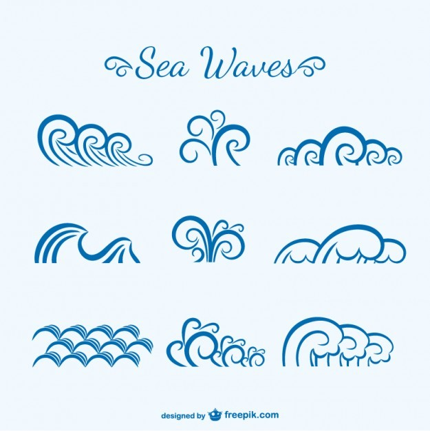 Sea waves sketch  Vector | Free Download