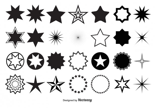 Set of different stars  Vector | Free Download