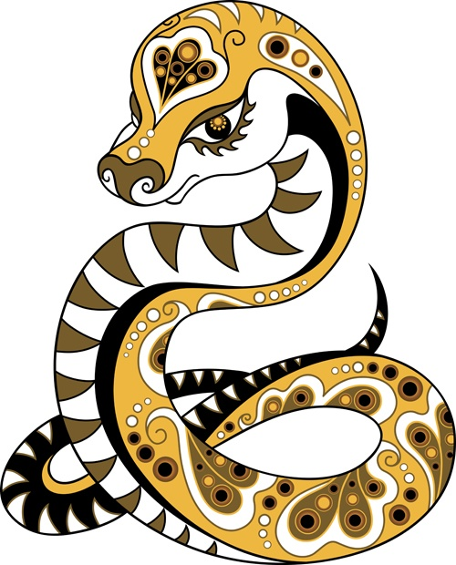 Set of 2013 year of snake design vector 05