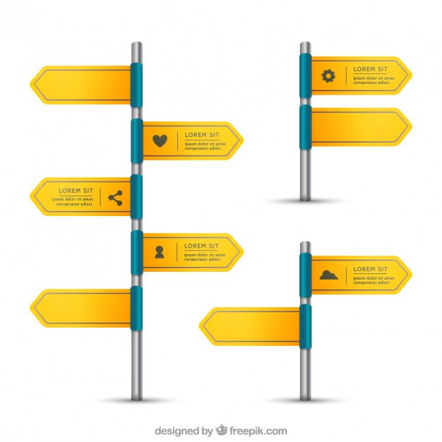 Sign posts  Vector | Free Download