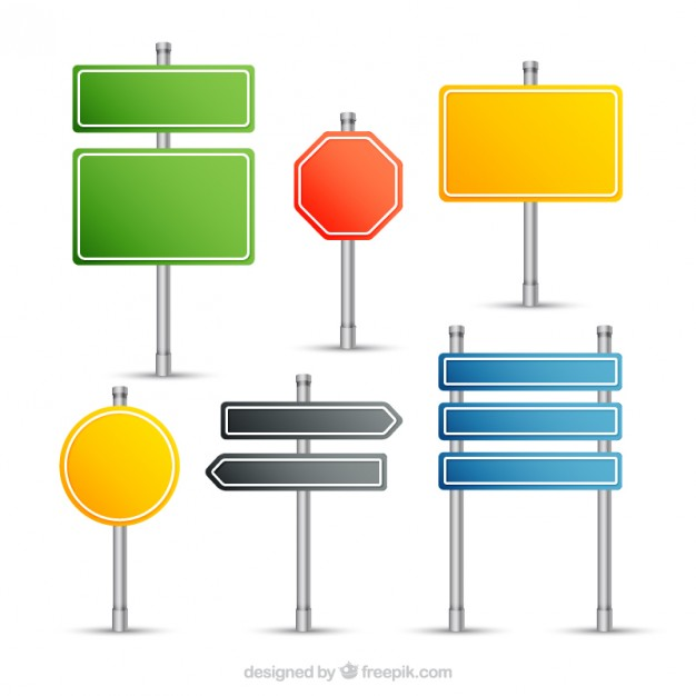 Signposts collection  Vector | Free Download