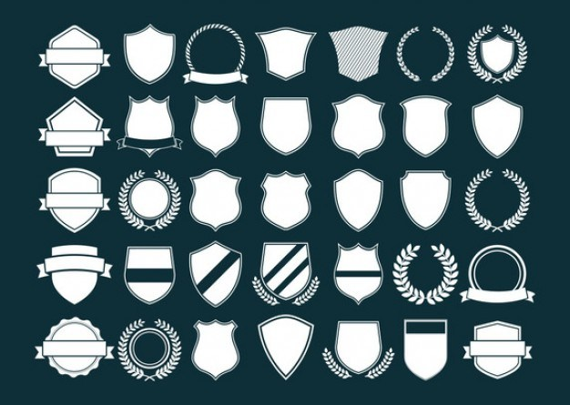 Silhouettes of different shields  Vector | Free Download