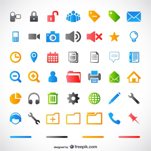 simple small icon vector material  Vector | Free Download